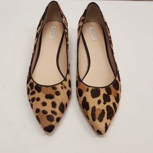 Cole Haan leather and fur block heel shoes